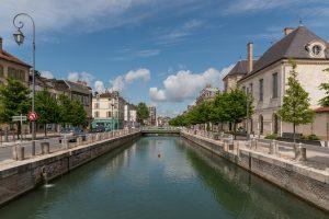 Canal du Trévois, Troyes, Southeast view