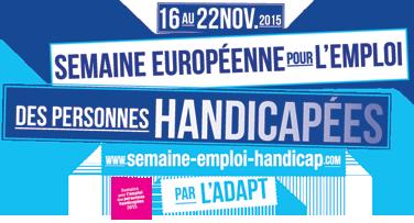 logo semaine européenne pour l'emploi des personnes handicapées