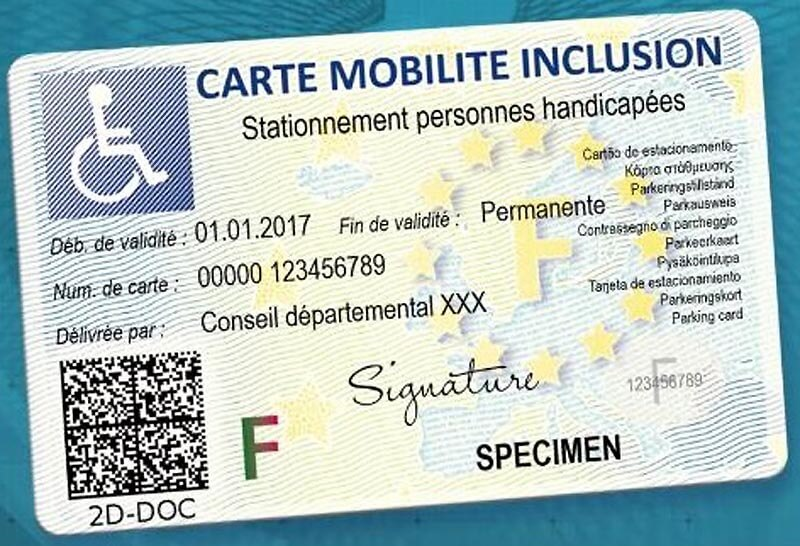 carte de stationnement handicap f d ration des malades handicap s. Black Bedroom Furniture Sets. Home Design Ideas