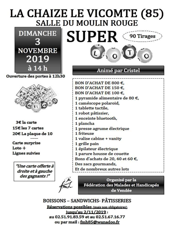 Loto La Chaize le Vicomte novembre 2019