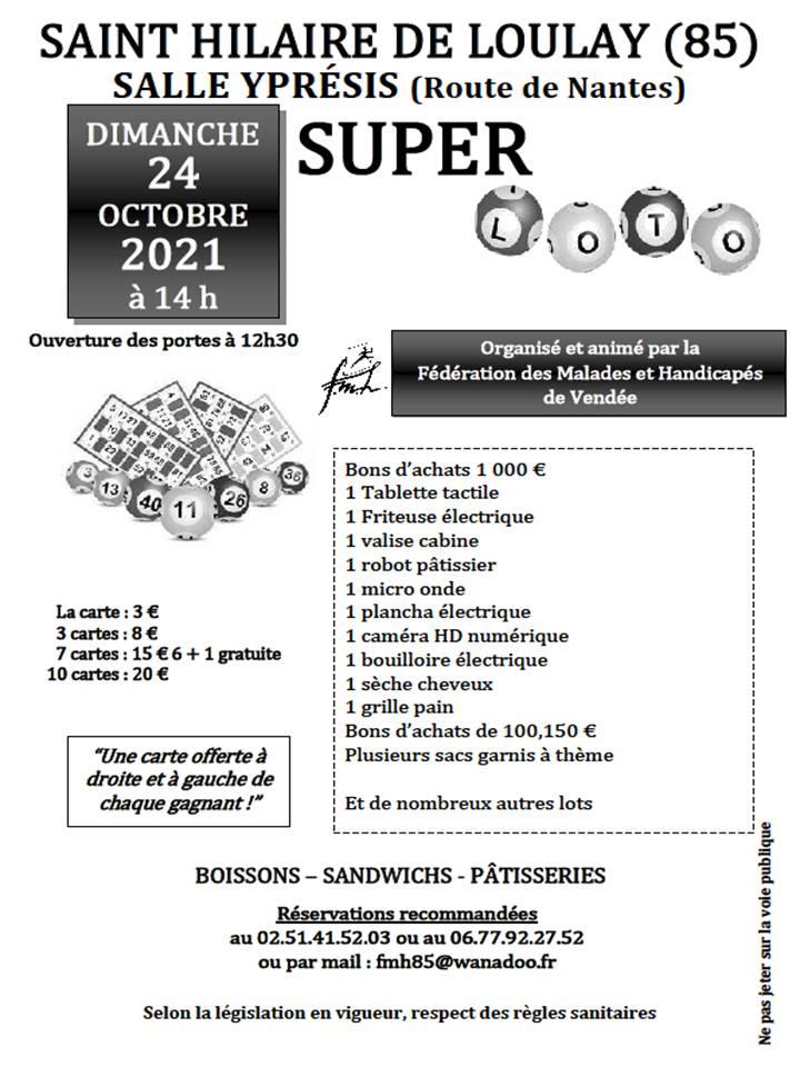 Loto FMH Vendée Octobre 2021